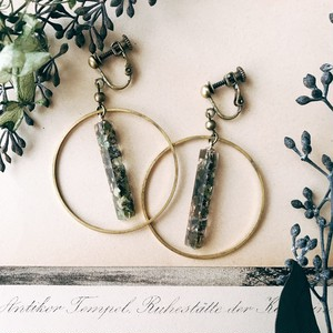 Mosaic earrings [green]