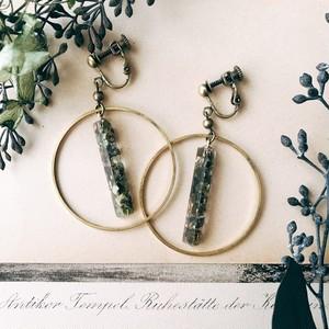 Mosaic earrings [green]