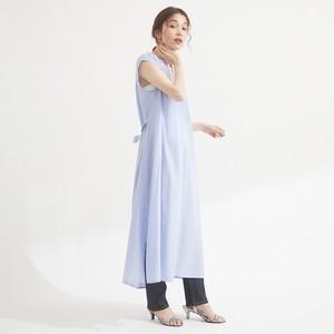 光沢無地スキッパーノースリOP FLE51050