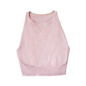 hi-neck croptop (dusty pink)