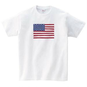 手書きの星条旗 Tシャツ