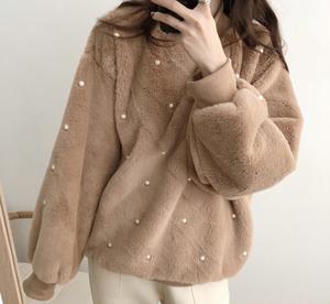 ビーズランタンべルベットセーター
