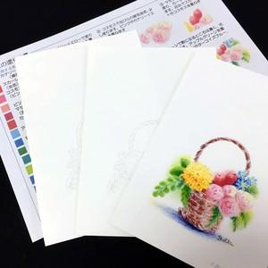 【塗り絵セット】花かご