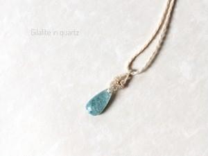 ジラライトインクォーツ  macrame necklace