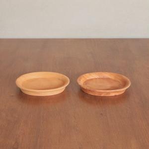 天然木 無垢 小皿 プレート 木製食器 2枚セット