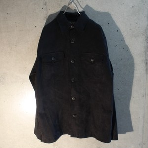 Fake Suede Long Sleeve Shirt