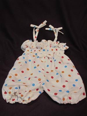 水玉パンツドレス