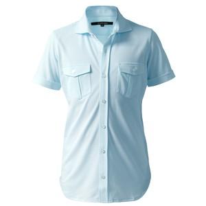 DJS-003 decollouomo メンズパイロットシャツ半袖 concorde - スカイブルー