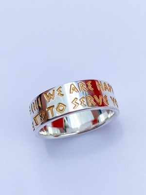 """New York """"Anthora"""" Ring/ Silver925 &K18GP/ IN-PUT-OUT"""