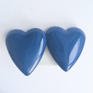 blue heart earring[e-842]