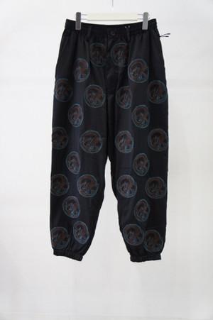 Baggy Track Pants -Dragon -BLACK- / ROTOL