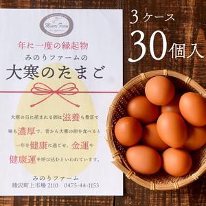 【期間限定】送料込!大寒のたまご30個(熨斗つき)