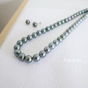 【期間限定】黒連 タヒチパール (黒蝶真珠) ネックレス