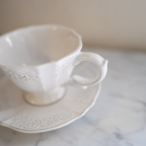 トリアノンカップ&ソーサー / ホワイト
