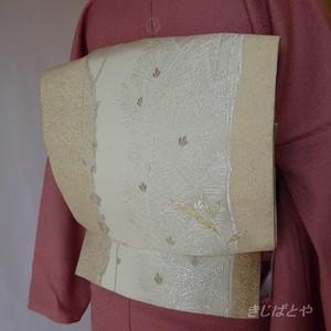 正絹 白地に松竹梅の袋帯