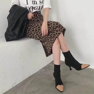 【即納】レオパードスカート