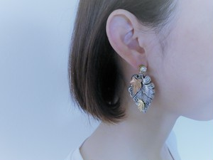 2ウェイリーフピアス vintage earrings Miriam Haskell leaf <PE-MHlfsv2>