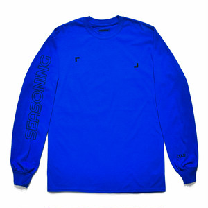 SEASONING COLOR L/S TEE  - BLUE