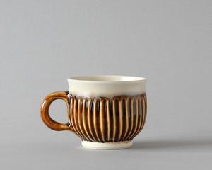 マグカップ -菊・茶| 環窯