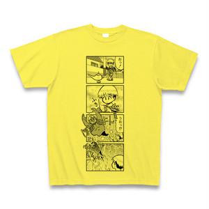 オリジナル4コマ漫画イラストTシャツ ① イエロー