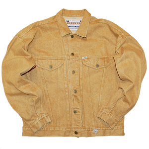 """""""Guess"""" Vintage Yellow Denim Jacket Used"""