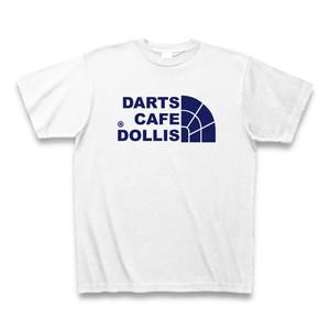 DOLLiSフェイスロゴTシャツ(白/紺)