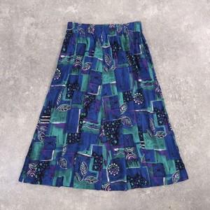 Flower art retro skirt