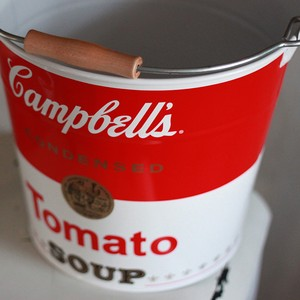 Campbell's スチールバケツ「SOUP CAN」