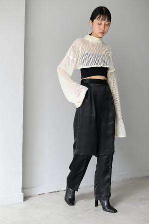 ROOM211 / Mole mesh knit Short TOP(white)