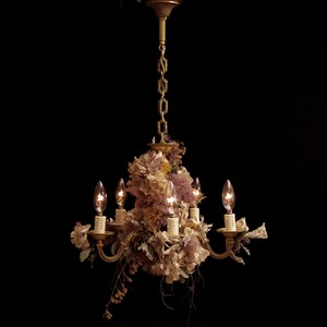 hydrangea white chandelier lamp france vintage