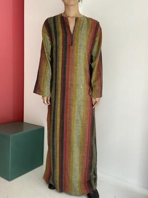 vintage  India  cotton stripe dress
