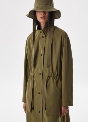 OVERSIZE TRENCH WITH CHIMNEY COLLAR