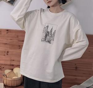 「2021先行AW商品」建築プリント長袖Tシャツ  LGX736