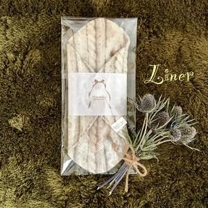 【ライナー】(ケーブルニット・バニラ)起毛ダブルガーゼ♪