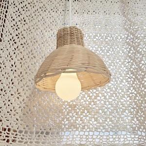 rattan pendant light / ラタン ペンダント ライト ランプ 電球+傘セット 韓国 北欧 バリ雑貨