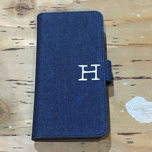 HR.REMAKE ALL PURPOSE H EMB DENIM PHONE CASE INDIGO
