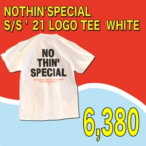 NOTHIN'SPECIAL / S/S '21 LOGO TEE  WHITE