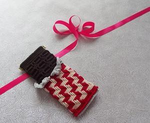 クレジット決済以外も可「板チョコのバネポーチ」印刷物編み図(印刷料・送料込み)