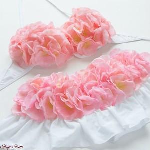 Chuan Pisamai / チュアンピサマイ お花の水着 バンドゥ&スカートタイプ (ピンクカラー)