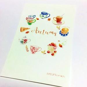 【ポストカード】秋のリース