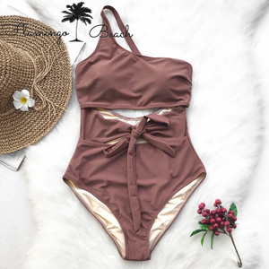 【FlamingoBeach】simple color monokini