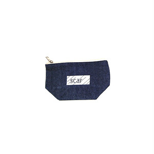 scar /////// BLACKBOX DENIM DAILY POUCH (Small) (Indigo)