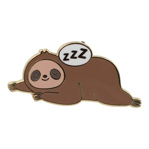 "Real Sic""Sleepy Sloth – Super Cute Stay in Bed Enamel Pi"""