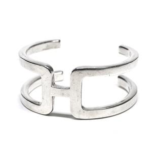 "Hermès Vintage Sterling Silver ""H"" Motif Bangle"