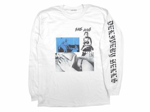 """SHE MOB"" L/S Tee WHITE 18AW-DH-07"
