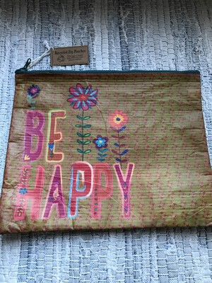 """Be Happy"" Pouches"