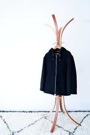 """【1980s】""""Gloverall"""" Wool Zip-up Hooded Coat / v439"""