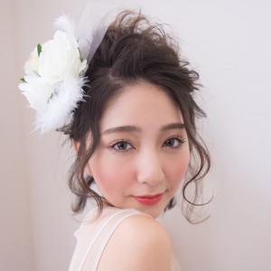 現役サロモプロデュース◆ヘアアクセ・ホワイト◆パーティーやイベントに大活躍!!
