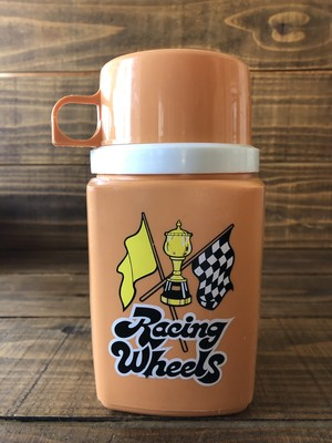 Racing Wheels KING SEELEY THERMOS /サーモス 水筒 70's ビンテージ Checkerflag