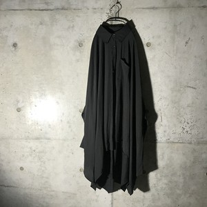 [:re]mode black sticked long shirt